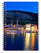 Town Of Vis Waterfront Evening Panorama Spiral Notebook