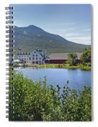 Town Square By The Pond At Waterville Valley Spiral Notebook