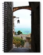 Town View In Italy Spiral Notebook
