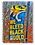Towson Tigers Black And Gold Spiral Notebook