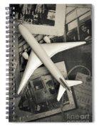 Toy Airplane Vintage Travel Spiral Notebook