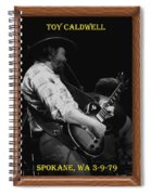 Toy Caldwell Of The Marshall Tucker Band Spiral Notebook