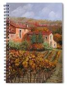 tra le vigne a Montalcino Spiral Notebook