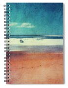 Traces In The Sand Spiral Notebook