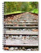 Tracking To The Right And Around The Bend Spiral Notebook