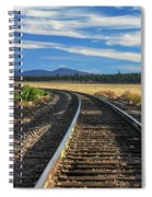 Tracks At Crater Lake Spiral Notebook