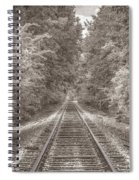 Tracks Bw Spiral Notebook