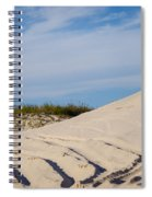 Tracks In The Sand Dunes Spiral Notebook