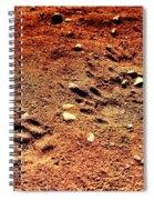 Tracks On Mars Spiral Notebook