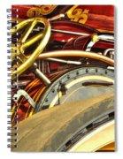 Traction Engine Steering Mechanism Spiral Notebook