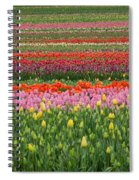 Tractor Among The Tulips Spiral Notebook