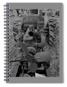 Tractor Bw Spiral Notebook