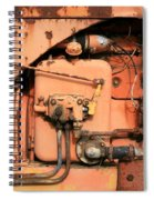 Tractor Engine V Spiral Notebook