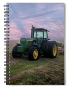 Tractor In A Field - Early Morning Spiral Notebook