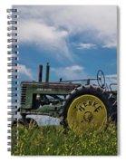 Tractor In Field Spiral Notebook