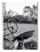 Tractor In Long Grass Spiral Notebook