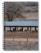 Tractor Port On The Ranch Spiral Notebook