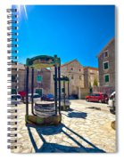 Traditional Dalmatian Town Of Tisno Square Spiral Notebook