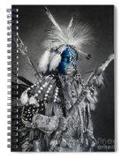 traditional dancer Blue Spiral Notebook