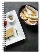 Traditional French Foie Gras Pate And Toast Starter Snack Platte Spiral Notebook