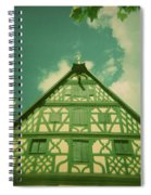 Traditional House Roth Germany Cross Process Holga Photography Spiral Notebook
