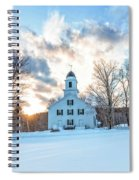 Traditional New England White Church Etna New Hampshire Spiral Notebook