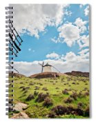 Traditional White Windmills  Spiral Notebook