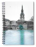 Trafalgar Square Fountain London 3 Spiral Notebook