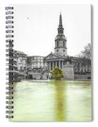 Trafalgar Square Fountain London 3c Spiral Notebook