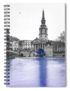 Trafalgar Square Fountain London 3d Spiral Notebook