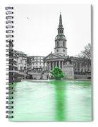 Trafalgar Square Fountain London 3f Spiral Notebook