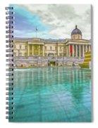 Trafalgar Square Fountain London 4 Spiral Notebook