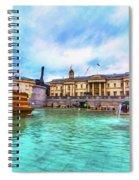 Trafalgar Square Fountain London 5 Art Spiral Notebook