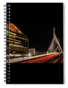 Traffic Racing Over Zakim Bridge Spiral Notebook