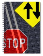 Traffic Signs Spiral Notebook