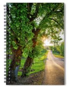 Trail Into Sunset Spiral Notebook