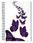 Trail Of The Purple Butterflies Transparent Background Spiral Notebook
