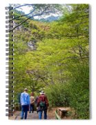 Trail To Waterfall In Vicente Perez Rosales National Park Near Puerto Montt-chile Spiral Notebook