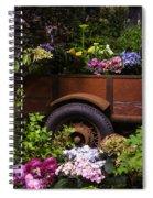 Trailer Full Of Flowers Spiral Notebook