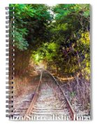 Trails Of Tracks Spiral Notebook