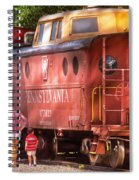 Train - Car - Pennsylvania Northern Region Caboose 477823 Spiral Notebook