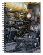 Train - Engine - Steam Locomotives Spiral Notebook