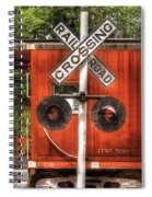 Train - Yard - Railroad Crossing Spiral Notebook