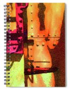 Train Abstract Variation Spiral Notebook
