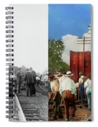 Train - Accident - Butting Heads 1922 - Side By Side Spiral Notebook