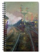Train At Night Spiral Notebook