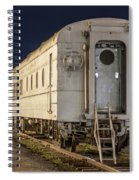 Train Car And Tracks Spiral Notebook
