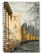 Train Cars Selective Color Spiral Notebook