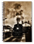 Train Coming In The Station Spiral Notebook