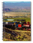 Train Coming Into The Station Spiral Notebook